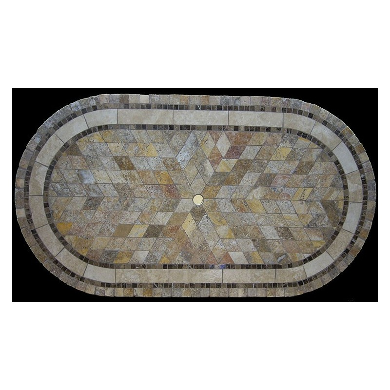 Vineyard Mosaic Stone Tile Table Top