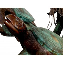 Bronze Sea Turtles & Jellyfish Fountain Sculpture
