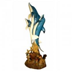Bronze Three Dolphin Fountain Sculpture - SP