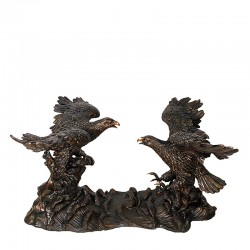 Bronze Two Eagle Dining Table Base Sculpture