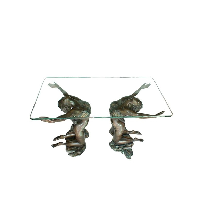 Bronze Two Ladies Coffee Table Sculpture