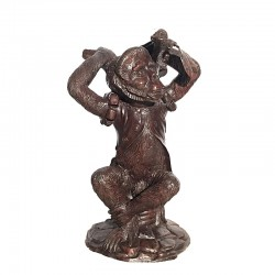 Bronze Circus Monkey Dining Table Base Sculpture