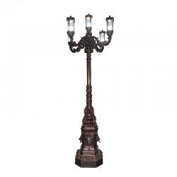 Bronze Five Light Lion Lamp Post