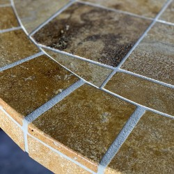 Tuscany Sun Mosaic Table Top - Closeup