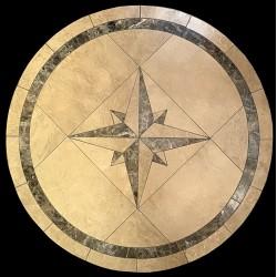 Compass Emperador Mosaic Table Top
