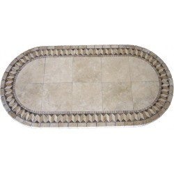 Illusion Mosaic Table Top - Racetrack Oval