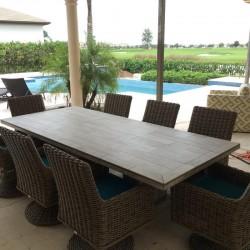 Vintage Mosaic Table Top - Outside Setting