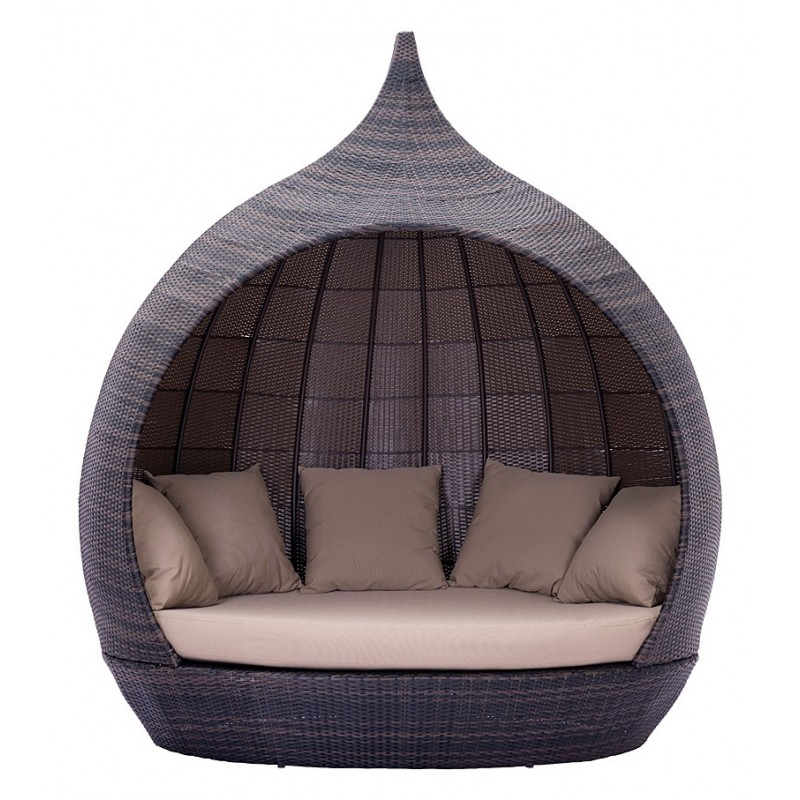 Martinique Outside Beach Day Bed Brown