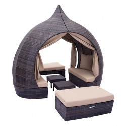 Majorca Daybed Brown and Beige