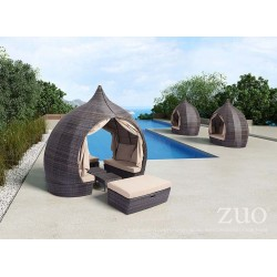 Majorca Daybed Brown and Beige - Lifestyle