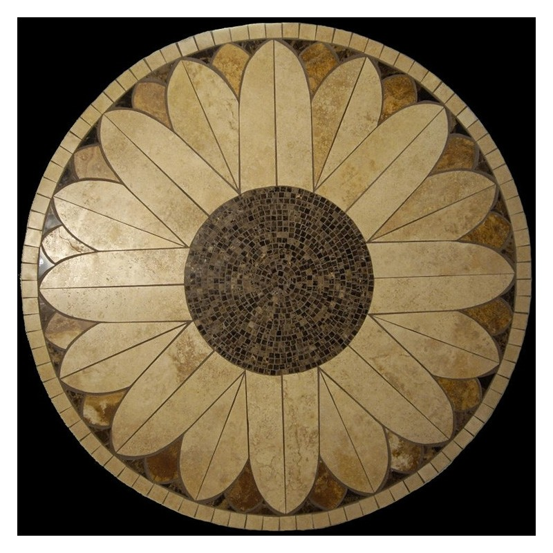 Sunflower Mosaic Table Top