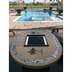 Racetrack Oval Mosaic Fire Pit