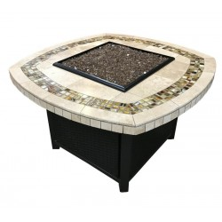 Square Round Mosaic Fire Pits
