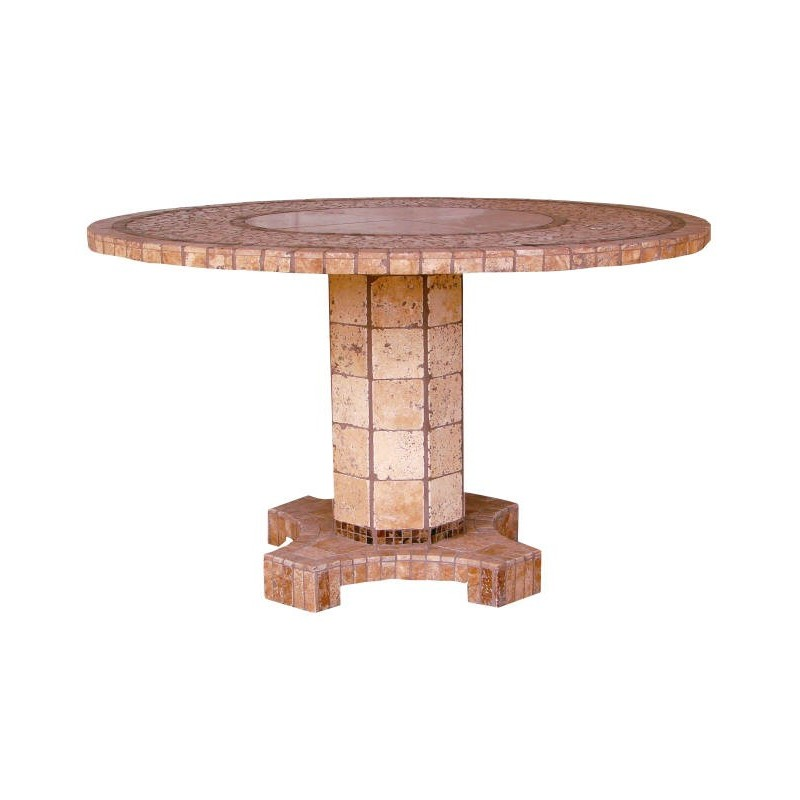 Agea Stone Tile Mosaic Dining Table Base