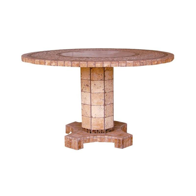 Agea Stone Tile Mosaic End Table Base