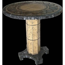 Agea Mosaic End Table Base - Shown with Optional Mosaic Table Top