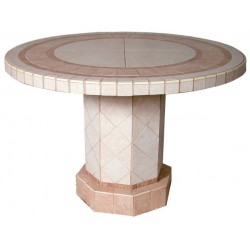 Roma Mosaic Stone Tile Dining Table Base