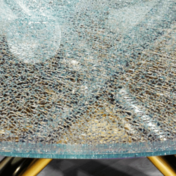 Low Iron Crackle Glass