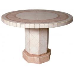 Roma Mosaic Stone Tile Chat Table Base