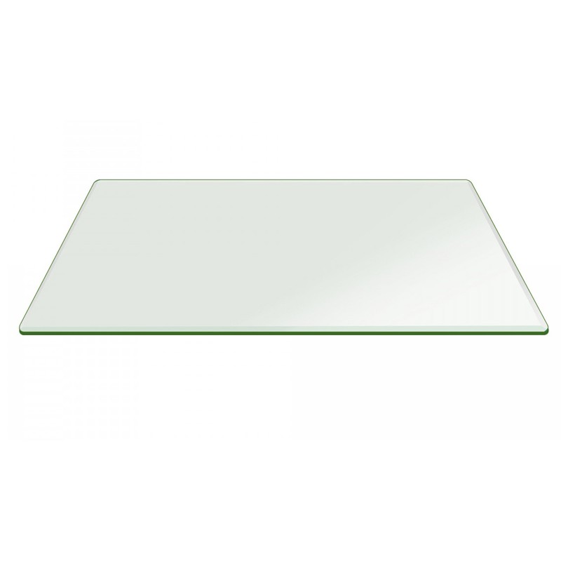 "19"" x 38"" Rectangle 3/8"" Thick Glass Top"