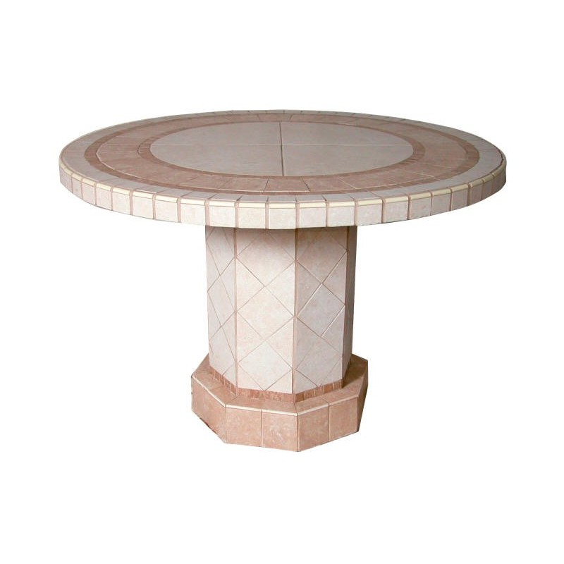 Roma Mosaic Stone Tile Bar Height Table Base