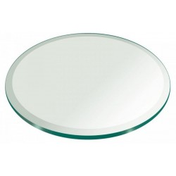 "24"" Round 1/2"" Thick Extra Clear Glass Top"