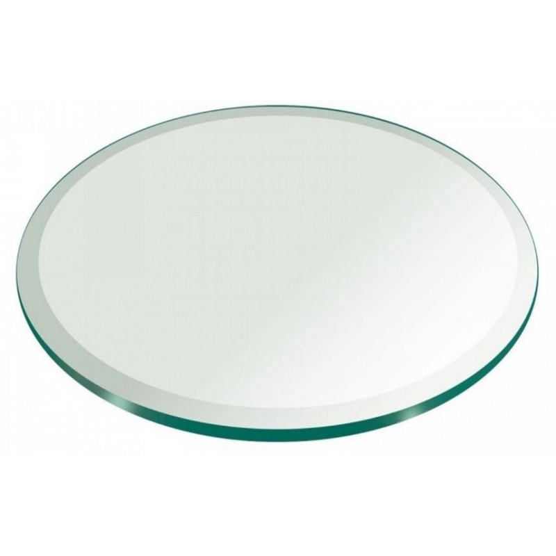 """24"""" Round 1/2"""" Thick Extra Clear Glass Top"""