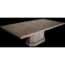 Roma Oval Mosaic Stone Tile Dining Table Base