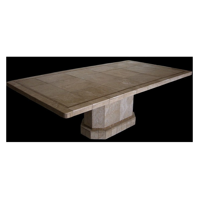 Roma Oval Mosaic Stone Tile coffee Table Base