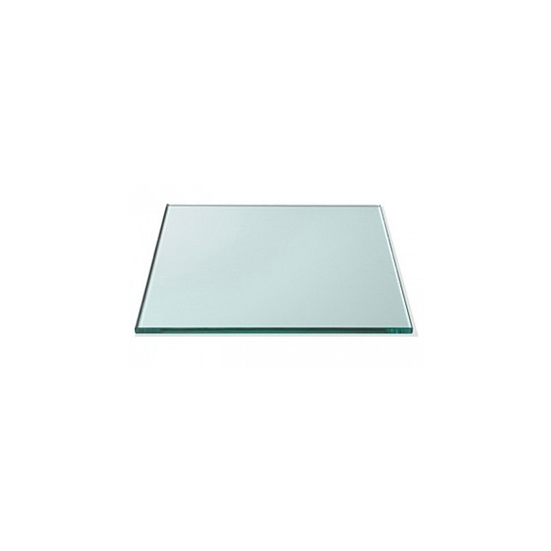 """24"""" x 24"""" Square 1/2"""" Thick Extra Clear Glass Top"""