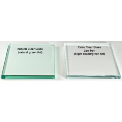 "36"" x 36"" Square 1/2"" Thick Extra Clear Glass Top"