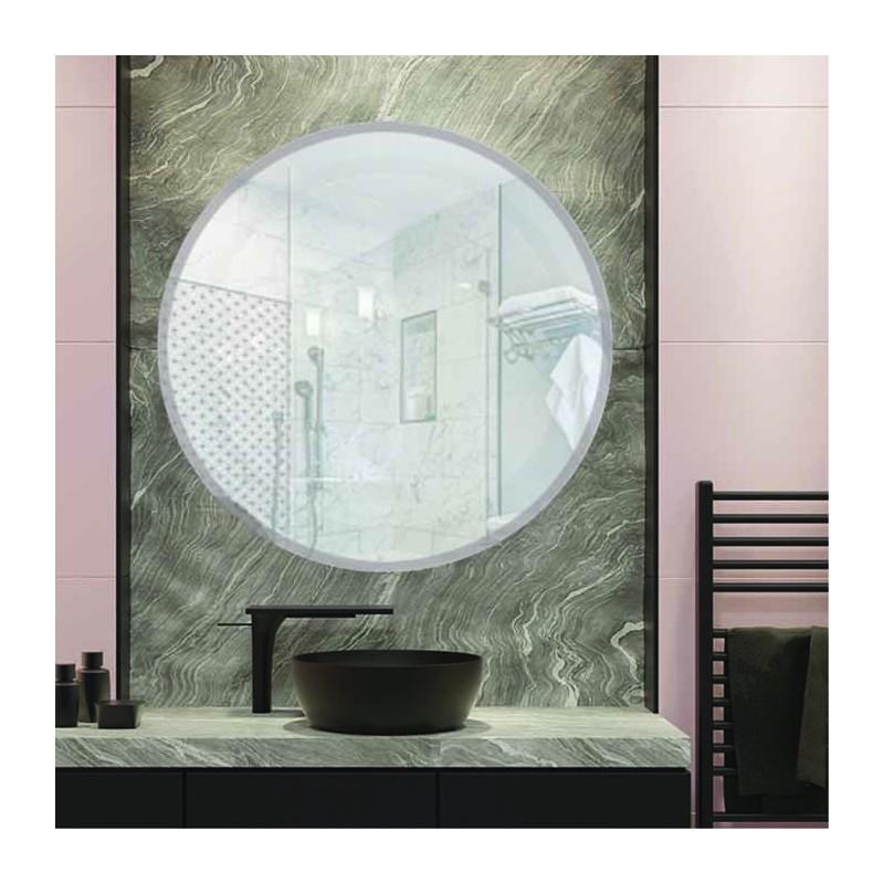 """Round 18"""" Frameless Beveled Mirror"""