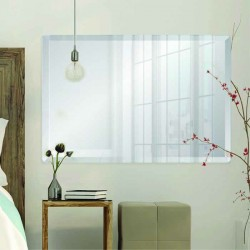 "Rectangle 30"" x 40"" Frameless Beveled Mirror"