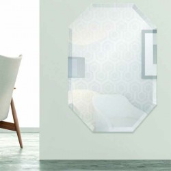 "Octagon 20"" x 30"" Frameless Beveled Mirror"