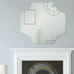 "Scallop 24"" x 36"" Frameless Beveled Mirror"
