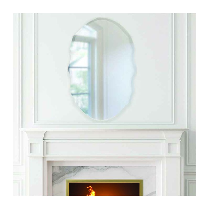 "Isabel 20"" x 30"" Frameless Beveled Mirror"
