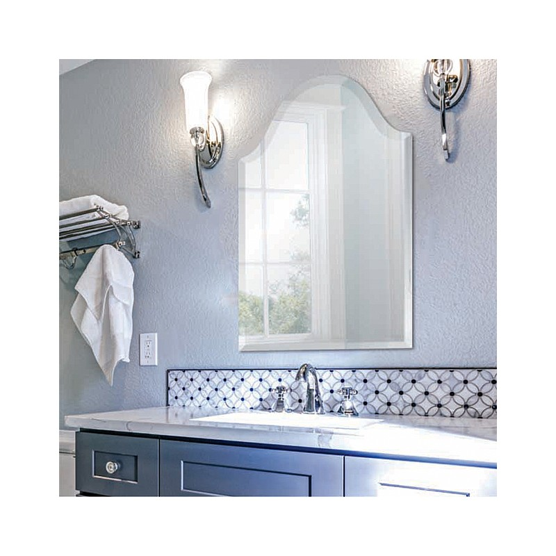 "Bristol 20"" x 32"" Frameless Beveled Mirror"