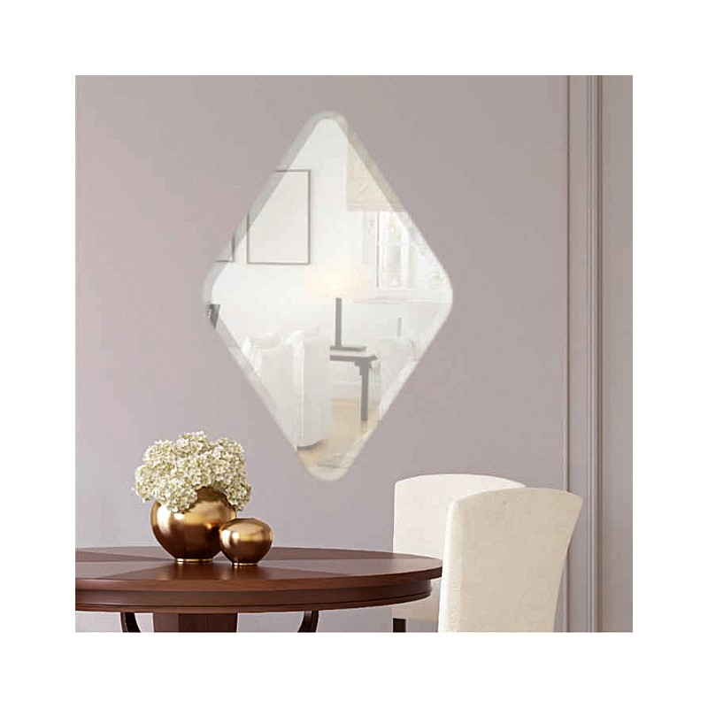 "Diamond 22"" x 34"" Frameless Beveled Mirror"
