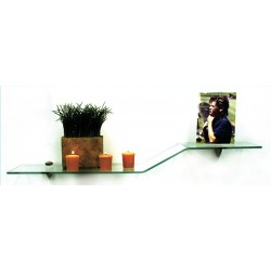 "Bent Glass Sparrow Shelf Kit 6"" x 18"""
