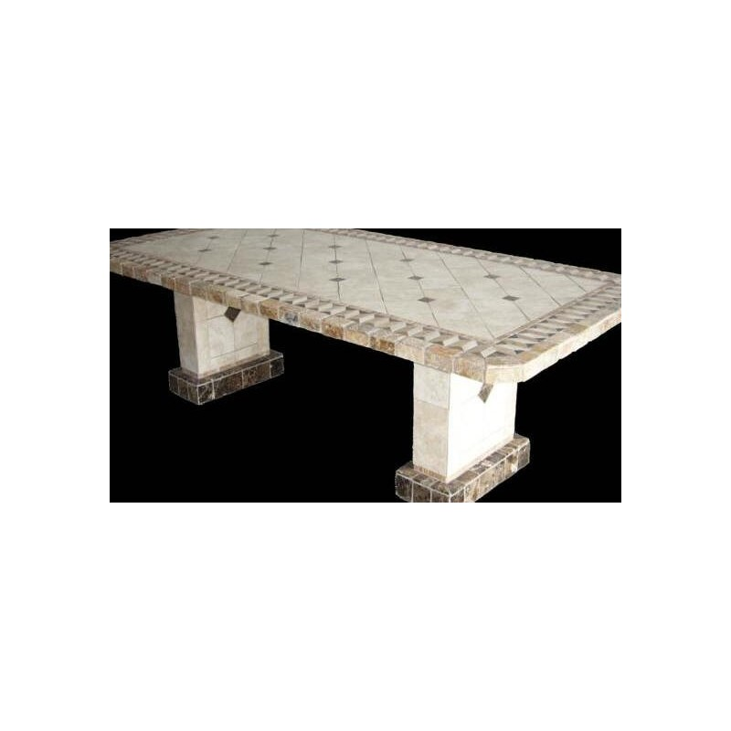Pompeii Stone Tile Bar Height Table Base Set