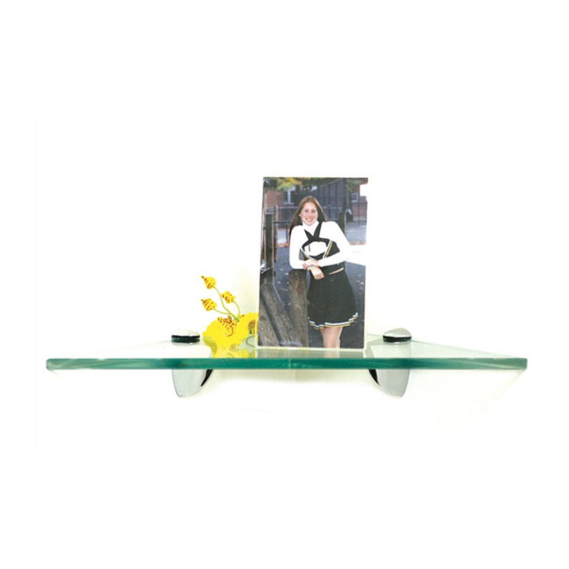 "Robin 10"" Triangle Corner Glass Shelf Kit"