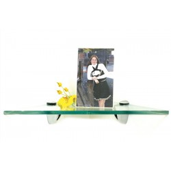 "Robin 12"" Triangle Corner Glass Shelf Kit"