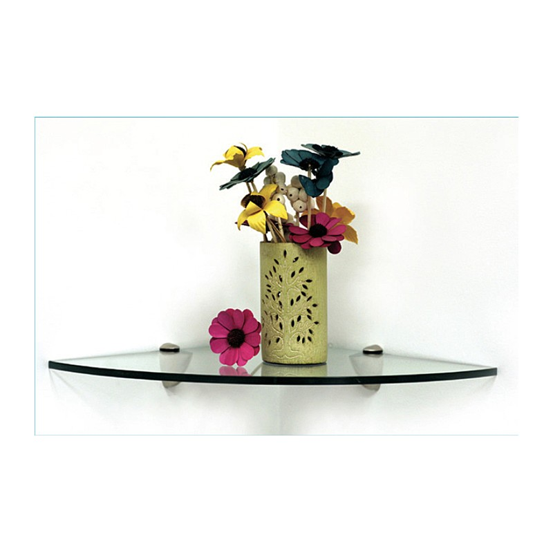 "Pelican 10"" Quarter Round Corner Glass Shelf Kit"