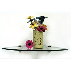 "Pelican 12"" Quarter Round Corner Glass Shelf Kit"