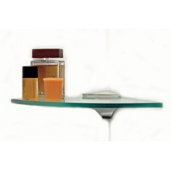 "Wren 12"" Quarter Round Corner Glass Shelf Kit"