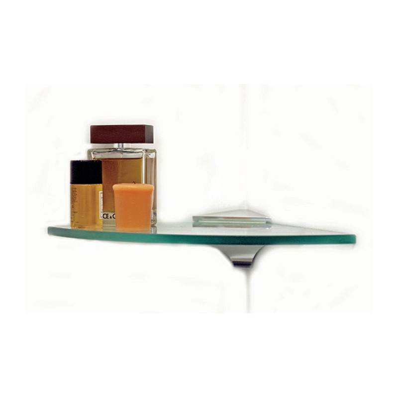 "Wren 10"" Quarter Round Corner Glass Shelf Kit"