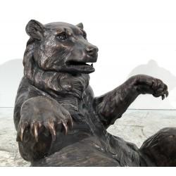 Bronze Bear Coffee Table Base - Closeup