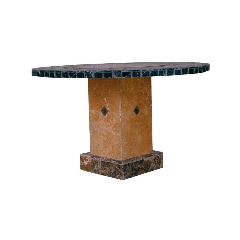 Troy Square Mosaic Stone Tile Dining Table Base