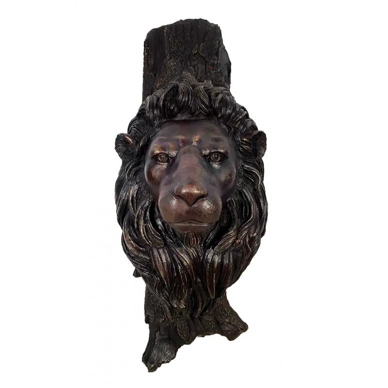 Bronze Lion Head Wall Sculpture