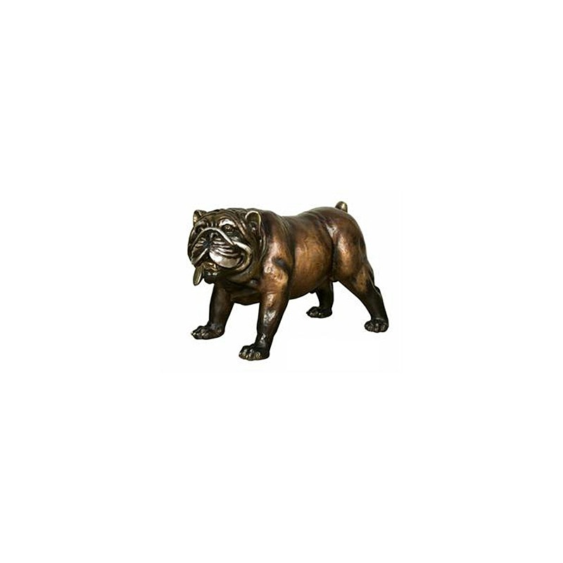 Bronze Table Top Bronze Bulldog Sculpture